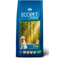 Ecopet Natural dog Fish Maxi 12 kg + 2 kg ZDARMA